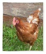 Chicken Portrait Fleece Blanket