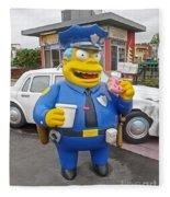 Chief Clancy Wiggum From The Simpsons Fleece Blanket