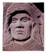 Chief-cochise-2 Fleece Blanket