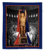 Chief Illiniwek University Of Illinois 04 Fleece Blanket