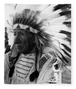 Chief Red Cloud Fleece Blanket by War Is Hell Store