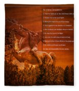 Chief Shabbona And The Ten Indian Commandments Fleece Blanket