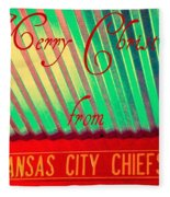 Chiefs Christmas Fleece Blanket
