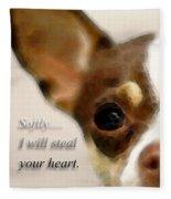 Chihuahua Dog Art - The Thief Fleece Blanket