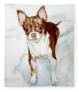 Chihuahua White Chocolate Color. Fleece Blanket