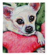 Chihuahua Who Came To Visit Fleece Blanket
