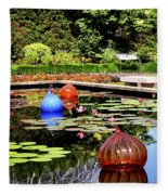 Chihuly Ball Lily Pond Fleece Blanket