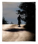 Child On Bicycle, Italy Fleece Blanket