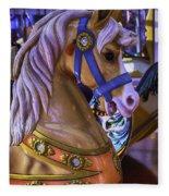 Childhood Carrousel Ride Fleece Blanket