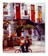 Childhood Montreal Memories Balconies And Bikes The Boys Of Summer Our Streets Tell Our Story Fleece Blanket