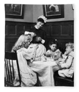 Children, 1900 Fleece Blanket