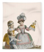 Children At Play, Engraved By Patas Fleece Blanket