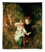 Children In The Wood Fleece Blanket