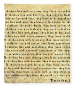 Children Learn What They Live Fleece Blanket