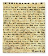 Children Learn What They Live Quote Fleece Blanket