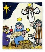 Children's School Nativity Play Fleece Blanket