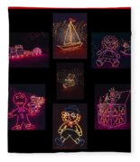 Children's Toys In Lights Poster 2 Fleece Blanket