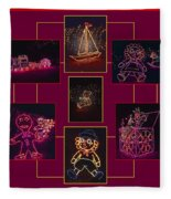 Children's Toys In Lights Poster Fleece Blanket