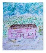 Child's Drawing Fleece Blanket