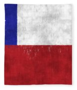 Chile Flag Fleece Blanket