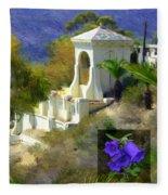 Chimes Tower Bell Flower Fleece Blanket