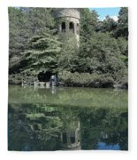Chimes Tower Reflection Fleece Blanket