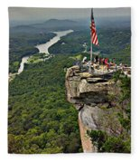 Chimney Rock Overlook Fleece Blanket