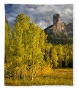 Chimney Rock San Juan Nf Colorado Img 9722 Fleece Blanket
