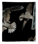 Chimney Swifts Fleece Blanket