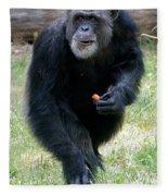Chimpanzee-5 Fleece Blanket