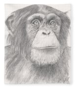 Chimpanzee Fleece Blanket
