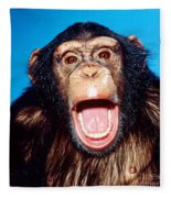 Chimpanzee Portrait Fleece Blanket