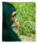 Chimpanzee Profile Fleece Blanket