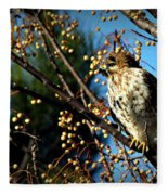 China Berry Hawk Fleece Blanket