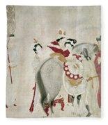 China Concubine & Horse Fleece Blanket