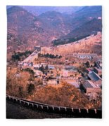 China Great Wall Adventure By Jrr Fleece Blanket