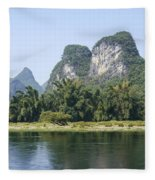 China Yangshuo County Li River  Fleece Blanket