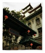 Chinatown Entrance Fleece Blanket