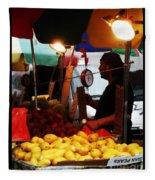 Chinatown Fruit Vendor Fleece Blanket