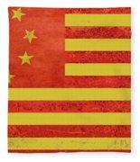 Chinese American Flag Fleece Blanket