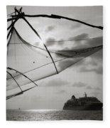 Chinese Fishing Net Fleece Blanket