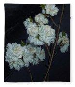 Chinese Flowers Fleece Blanket