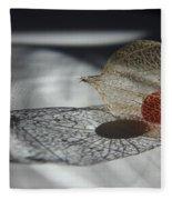 Chinese Lantern Plant - B Fleece Blanket