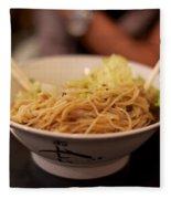 Chinese Noodle Dish Fleece Blanket