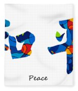 Chinese Symbol - Peace Sign 18 Fleece Blanket