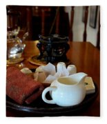 Chinese Tea Pot Cups Towel Tray And Plates Fleece Blanket
