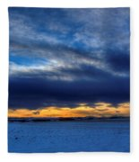 Chinook And The Prairie Bear Fleece Blanket