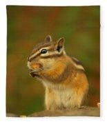 Chipmunk Loving Honey Roasted Peanuts Fleece Blanket