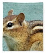 Chipmunk Portrait Fleece Blanket