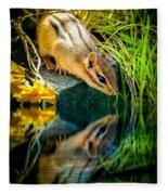 Chipmunk Reflection Fleece Blanket